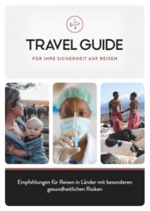 (Risikoreiche Reiseländer) E.Book-Cover, Frau mit Baby im Tragetuch, Spritze und Afrikaner mit Ziegen